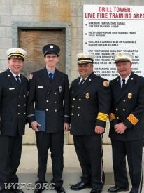 FF Ahern with the three Chiefs