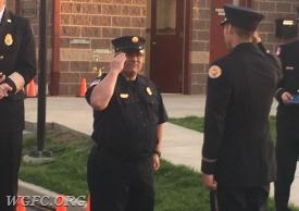 FF Oyler salutes Lead Instructor John DeMarco