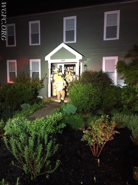 Crews check the residence.