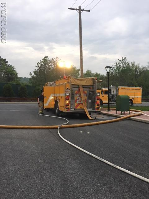 Engine 1 was used as the first in engine, laying in from the hydrant with two attack lines deployed.