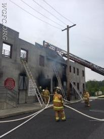 The fire training campus provides realistic conditions to practice fire attack.