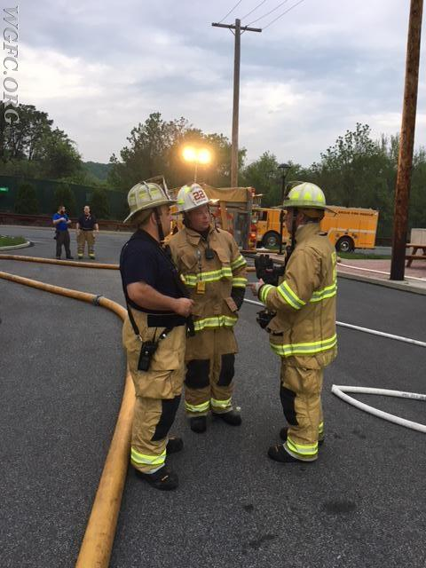 Chief officers review the training progress.