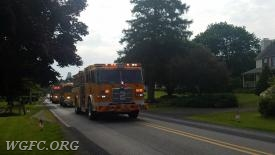 WGFC trucks roll State Road in London Grove township.