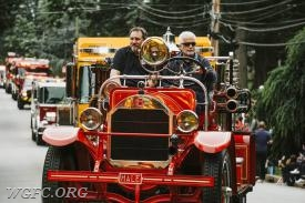 Antique 22 leads the West Grove delegation at the annual Memorial Day Parade in Kennett Square, the second of two parades in which WGFC units were featured.