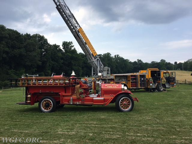 The West Grove Fire Company's oldest and newest apparatus were on display at the 10th Annual Community Day at Paradocx Vineyard on Flint Hill Road in Franklin Township.