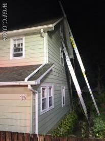 Ladders on all sides and floors of the building provide for emergency egress and rescue.