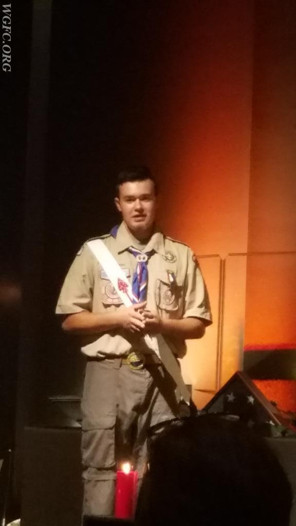 FF Christopher Miller, Eagle Scout.