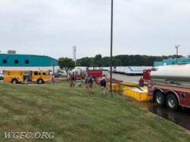 Crews from 12 area fire companies participated in a drill to simulate moving high volumes of water for rural firefighting at a two day class help recently in Nottingham PA.