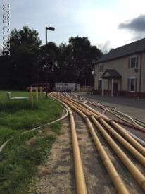 A large amount of multi-diameter hose can be tested simultaneously.