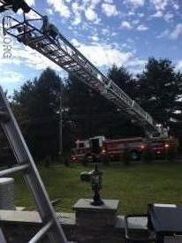 Ladder 21 set up from Saginaw Road.