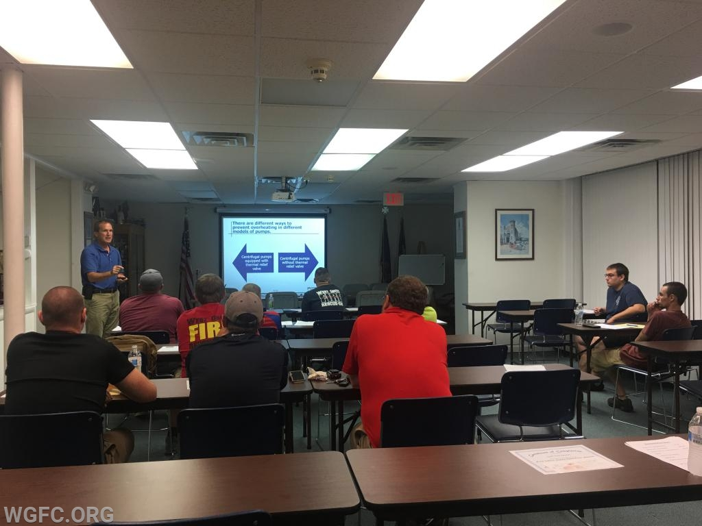 Instructor Simpson leading the class discussion.