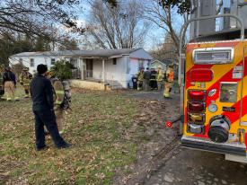 Crews pick up from today's smoke in the dwelling call