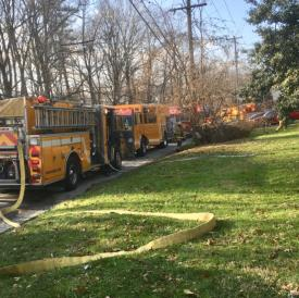 WGFC and area fire companies responded to reports of smoke in the dwelling on Old Baltimore Pike in Penn Township.  A faulty dryer vent was the source of the problem.