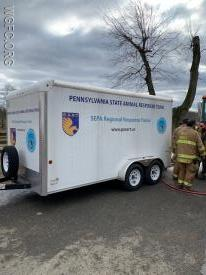 Station 36 (Unionville) maintains and responds with a specialty trailer for animal rescues of this type.