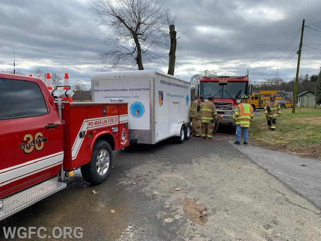 Utility 36, Rescue 36, and the special-call trailer for animal rescue assisted the WGFC on this call.
