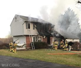After the fire was knocked down.  Photo Credit: Cecil County Fire Blog