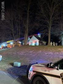 Ladder 22's long reach proved valuable on the steep driveway