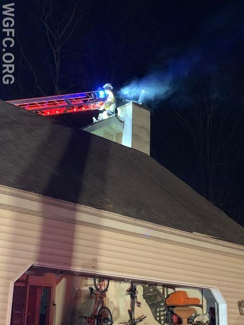 WGFC crews work at the top of the chimney