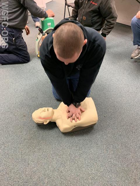 Nearly 50 WGFC members and employees participated in an annual CPR and EMS refresher training at Station 22.