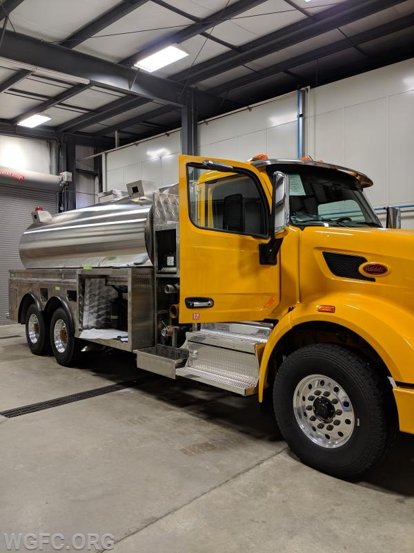 This new unit will replace the current tank truck which has been in service since 1990.