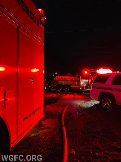 Water supply being provided by Tanker 22