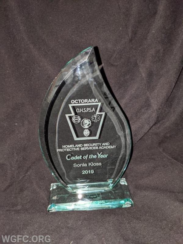 Cadet of the Year award.
