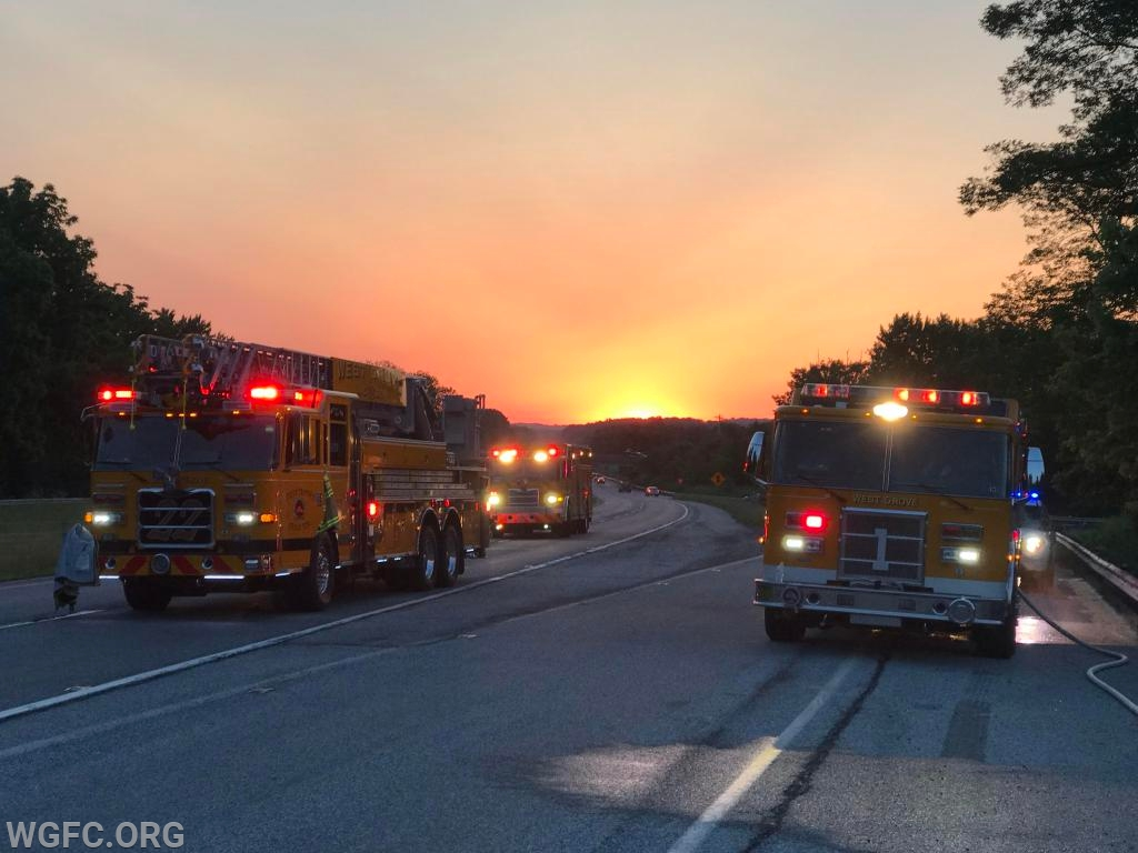 Two hours after the dispatch, dawn begins over Route 1