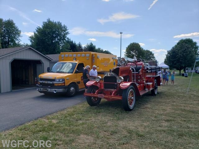 Visitors to the Sunset Park Day in Penn Township had a chance to see on of the WGFC's ambulances and Antique 22