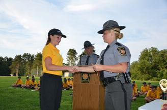 Youth from across Chester and Lancaster Counties participate in Camp Cadet at Camp Saginaw each year (State Police photo)