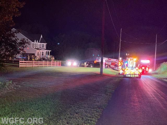 An early morning house fire occurred on Hall Road in Lower Oxford Township, with WGFC units assisting Oxford.