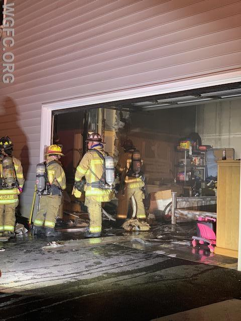 WGFC assisted Oxford with a house fire on Hall Road in Lower Oxford Township.