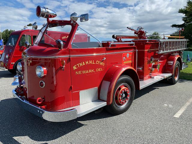 A vintage pumper formerly in service in Newark, DE
