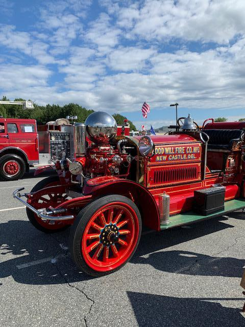 "The antique pumper from New Castle, Delaware is always a ""show-stopper"""