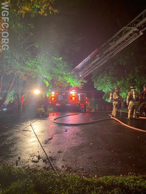 Ladder 21 set up in the driveway