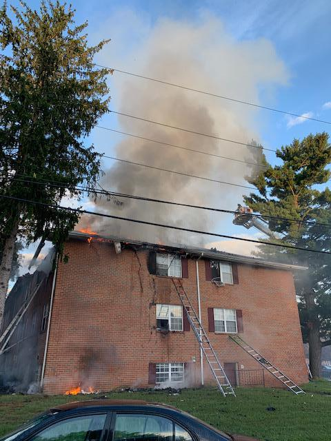The fire burned through the roof above the original fire apartment.