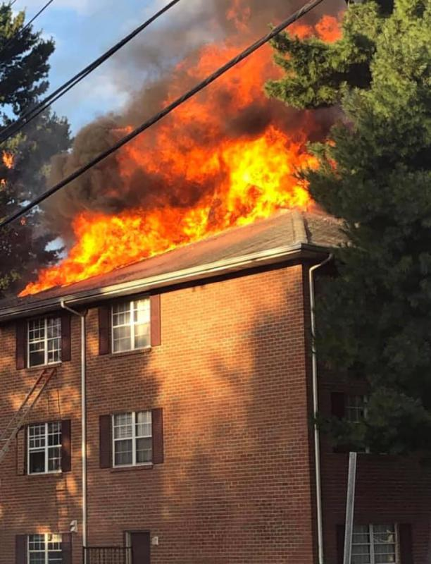 WGFC units were called to assist Newark and numerous New Castle County Fire Departments for this multi-alarm blaze at the Fairfield Apartments in Newark.