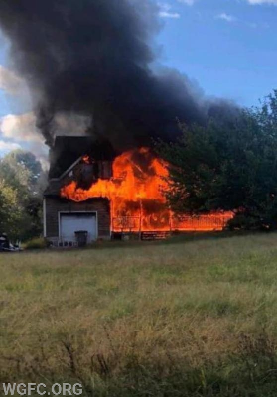 This house fire in Fair Hill, Maryland required equipment from more than six fire companies to put out, and was one of many calls handled on a single busy day for the WGFC.