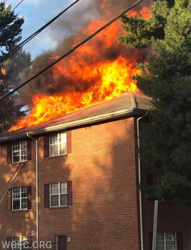 This multi-alarm fire in Newark, DE was the 10th dispatch on a busy day for the WGFC.