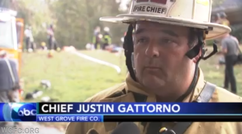 WGFC Fire Chief Justin Gattorno interviewed on Action News