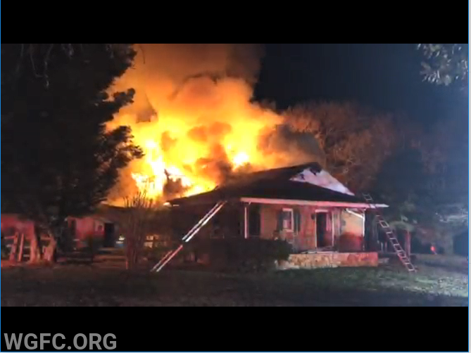 West Grove Fire Company units arrived to find a large volume of fire at this Penn Township residence on Monday night. The blaze took hours to completely extinguish with assistance of numerous area fire companies.