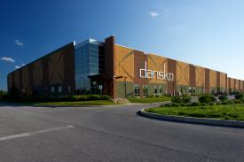 The Dansko Distribution Center is a 200,000 square foot building handling all world-wide shipping from Jennersville.  (Courtesy Andy Shelter Photography)