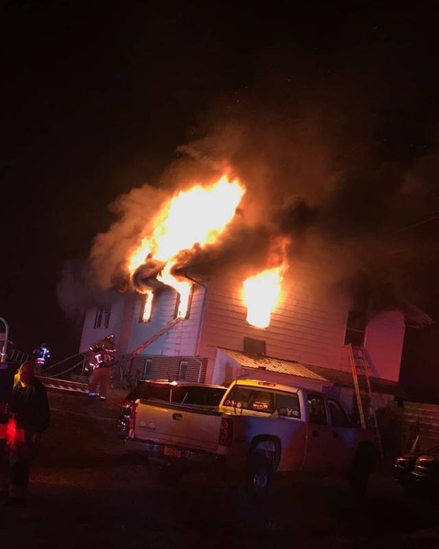 Fire heavily damaged this East Nottingham Twp. home on New Year's Eve, as the WGFC assisted Oxford.