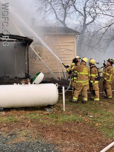 WGFC crews extinguish fire on the exterior
