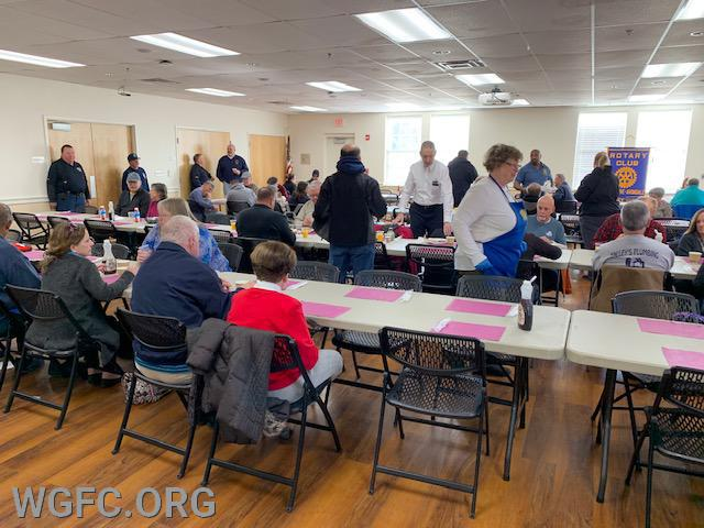 Hundreds of area residents enjoyed pancakes and sausage at the annual Rotary Pancake Breakfast that provides support to the West Grove and Avondale Fire Companies.