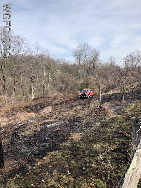 Oxford Fire Company assisted the WGFC along Church Hill Road
