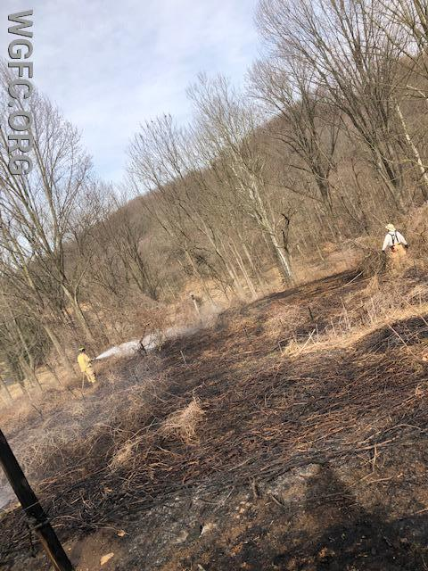 Brush fire in Franklin Township