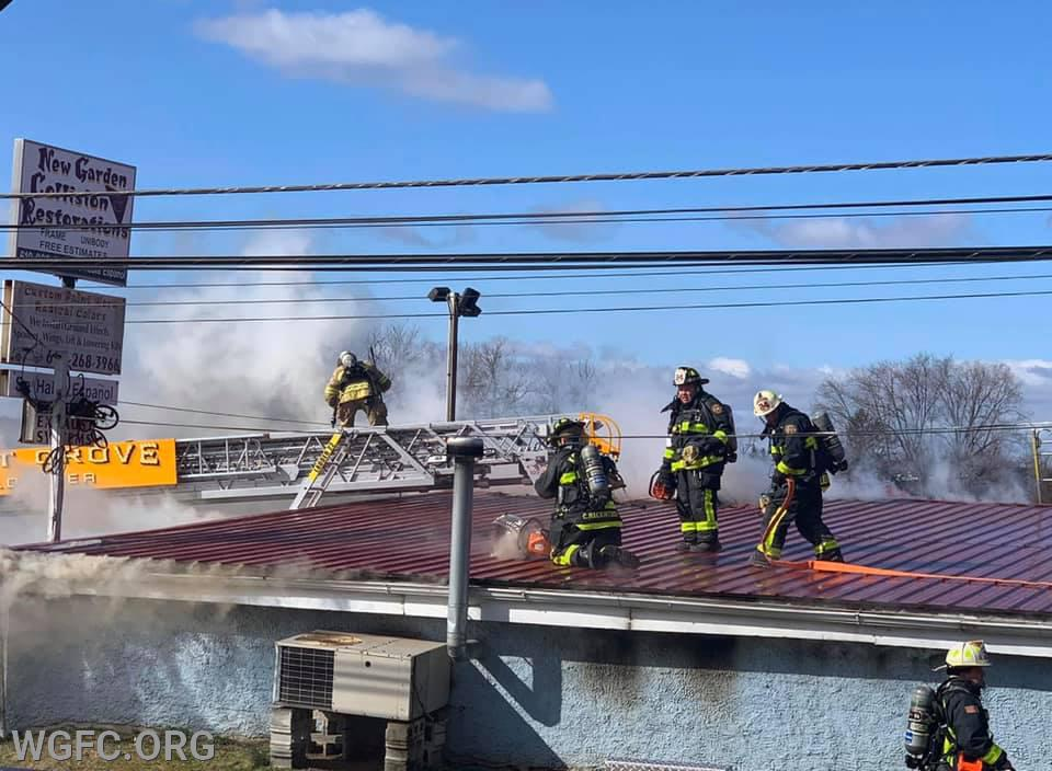 Crews from all over southern Chester County worked to put out a fire at an auto repair company in New Garden Township.